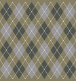 beige gray and white seamless argyle pattern vector image