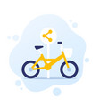 bike sharing point area icon vector image