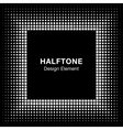 Black Abstract Halftone Square Frame Background vector image vector image