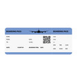 blue boarding pass vector image
