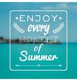 blurred summer landscape background vector image