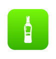 bourbon icon green vector image vector image