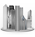 Building modern design vector image vector image