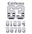 california set number flag usa black white vector image