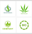 cannabis leaf logo icon collection vector image vector image