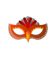 carnival venecian mask unisex isolated on white vector image