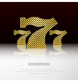 Casino 777 background vector image
