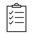 checklist icon clipboard symbol flat vector image