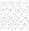 christmas seamless pattern with gift box street vector image vector image