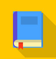 closed book icon flat style vector image vector image