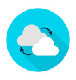cloud computing flat circle icon vector image vector image