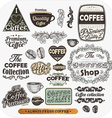 Coffee Label Set vector image vector image