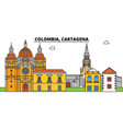 colombia cartagena city skyline architecture vector image vector image
