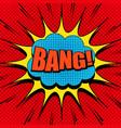 comic book page explosive bright concept vector image vector image