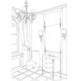 Contemporary interior doodles bathroom vector image