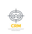 crm customer relationship management line icon vector image