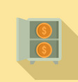 crowdfunding money safe icon flat style vector image vector image