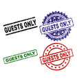 damaged textured guests only seal stamps vector image vector image