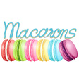 Different color of macarons vector image vector image