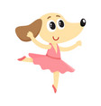 dog puppy character ballet dancer in pointed vector image vector image