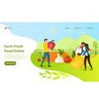 farm fresh food online concept vector image