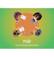 fgd focus group discussion team work together and vector image vector image