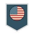 flag symbol usa pennat vector image vector image