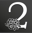 floral number 2 vector image vector image