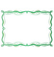 green antique frame with laces vector image
