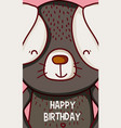happy birthday to you dog cartoon vector image vector image