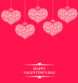 hearts bow hanging pink vector image vector image