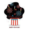 isolated cartoon celebration america independen vector image vector image