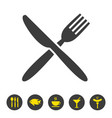 knife and fork icon on white background vector image