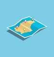 luxembourg explore maps with isometric style and vector image vector image