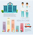 medical infographic flat design style modern vector image