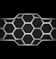 metal background geometric pattern hexagons vector image vector image