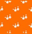 molecule element pattern orange vector image vector image