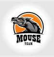 mouse sports emblem logo vector image vector image