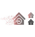 moving pixel halftone home login icon vector image vector image