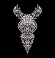 neckline ethnic design floral pattern vector image vector image