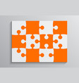 orange piece puzzle banner 12 step background vector image vector image