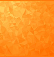 orange polygonal background triangular pattern vector image
