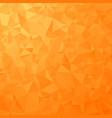 orange polygonal background triangular pattern vector image vector image
