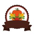 organic food emblem icon image vector image