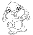 outlined bunny vector image vector image