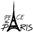 peace for paris 2 vector image vector image
