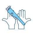 plumbing wrench isolated vector image vector image