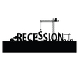 recession with a workforce vector image