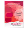 Red Brochure Design Template vector image vector image