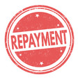 Repayment sign or stamp